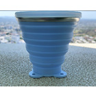 Foldable Collapsible Silicone Pocket Drinking Cup (Blue)