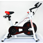 Fitplus Power Advanced Stationary Fitness Exercise Spin Bike (White)