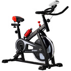 Fitplus Power Advanced+ Stationary Fitness Exercise Spin Bike (Black)