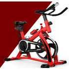Fitplus Power Advanced+ Stationary Fitness Exercise Spin Bike (Red)