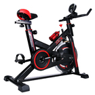Fitplus Power Advanced Stationary Fitness Exercise Spin Bike (Red)