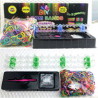 TWO PACK 2 x DIY Loom Band Kits - Make Rainbow Bracelets