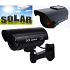 2 x Solar Powered IR Simulation Dummy Security Cameras
