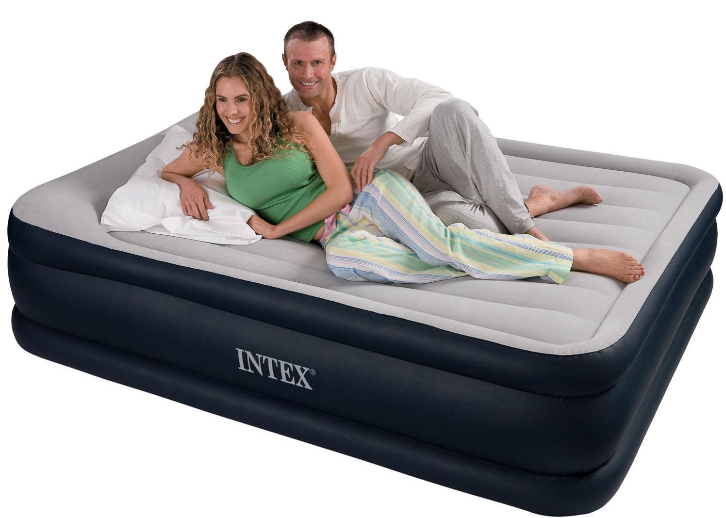 Intex Deluxe Queen Size Comfort Pillow Rest Raised ...