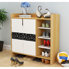 Avenue Deluxe Contemporary Wooden Shoe Storage Cabinet