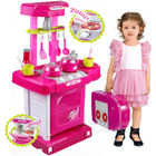 Kids Pretend Play Kitchen Toy Set Pink
