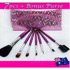 7PC Professional Beauty Make up Brush Set with Purse