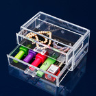 2- Drawer Cosmetic Organiser Clear Jewellery Box
