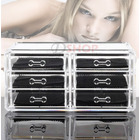 6-Drawer Clear Acrylic Cosmetic Makeup Display Organiser Jewellery Box