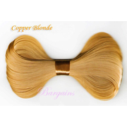 5 x Large Bow Hair Clip (Copper Blonde)