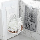 Folding Laundry Basket Clothes Storage Bathroom Organizer (Large, White)