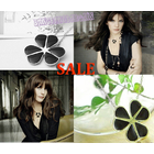 Stunning Charming Lucky Clover Necklace Pendant & Chain