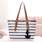 Sailor Anchor Leather Look Handbag Designer Large Tote