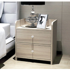 2 x Varossa Classic Bedside Table / Chest of Drawers (White Oak)