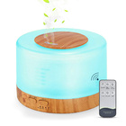 Multifunction Humidifier Diffuser with LCD and Remote Control (Wood Grain)