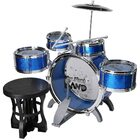 6PCS Kids Jazz Drum Toy Set (BLUE)