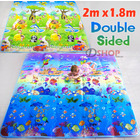 2m Double Sided Ocean Alphabet & Animal Fun Baby Kids Play Mat