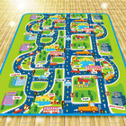 City Road Map Baby Kids Play Mat Interactive Picnic Rug