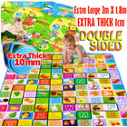 XL Double Sided 2m Extra Thick Baby Kids Play Mat