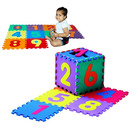 10 PK Numbers Foam Puzzle Interlocking Baby Play Mat