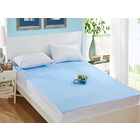 Luxe Waterproof Fitted Sheet and Mattress Protector Queen Size 150cm (Blue)