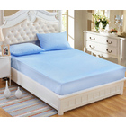 Luxe Waterproof Fitted Sheet and Mattress Protector King Size 180cm (Blue)