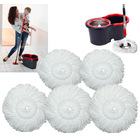 5 x Microfiber Spin Mop Heads ( 5 Mop Pads Only)