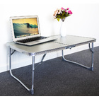 Portable Foldable Laptop Desk Indoor/Outdoor Coffee Table (Silver)