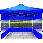 3-Side Gazebo Walls 3m x 3m (Opaque Blue- Walls Only)