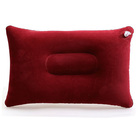 Inflatable Travel Pillow Head Rest Air Support Blow up Cushion (Maroon)