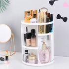 360 Degree Rotating Jewelry Cosmetic Makeup Shelf (White)
