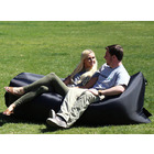 Inflatable Air Sofa Lounger Lazy Couch in Portable Bag (BLACK)
