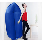 Inflatable Air Sofa Lounger Lazy Couch in Portable Bag (NAVY BLUE)