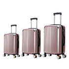 "3 Piece Deluxe Ultra Light Tough Luggage Suitcase Set (Rose Gold) (28"", 24"", 20"")"