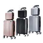 2-Piece Deluxe Ultra Light Tough Standard Cabin Luggage Suitcase Set