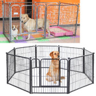 Premium Heavy Duty Metal Pet Dog Exercise Playpen Containment Cage (80x90 x 6)
