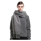 Soft Long Woven Wool Scarf
