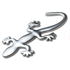 3D Gecko Badge Chrome Emblem Car Sticker Auto Stickers