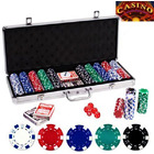 500 Chip Deluxe Professional Poker Game Set in Aluminium Case