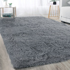 XL Extra Large Plush Luxury Shag Rug Carpet Mat (Grey, 200 x 300cm)