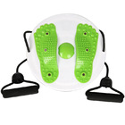 Foot Massaging Waist Twist Board with Resistance Bands