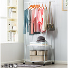Belle Coat Hanging Stand Wardrobe Clothes Hanger Rack (White)