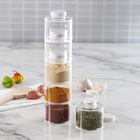 6PC Spice Tower Stack-able Storage Jar Set