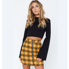 Sweetheart Check Mini Skirt (Yellow)