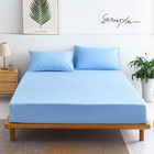 3 PC Set Luxe Bedding Set Waterproof Fitted Sheet/Mattress Protector and Pillowcases - King Size (Blue)