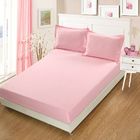 3 PC Set Luxe Bedding Set Waterproof Fitted Sheet/Mattress Protector and Pillowcases - Queen Size (Pink)