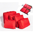 5 PCS Bags In Bag Foldable Travel Organizer  Set (Red)