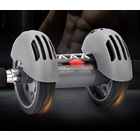 Double Wheels Abdominal Gym Ab Roller Total Body Exerciser with Knee Pad