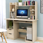 Expert Computer Desk Workstation with Shelf & Cabinet  (White Oak)