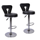 2 x  Varossa's Eden Designer Bar Stools (BLACK -Set of 2)